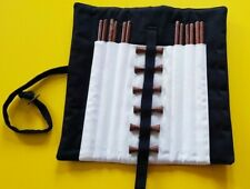 6 pairs of Japanese Reusable Handmade Wooden Chop Stick Set with Rests.