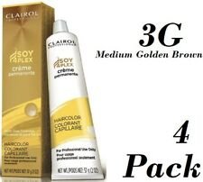 4 Clairol Professional Soy4Plex Permanent Hair color 3G Medium Golden Brown