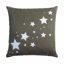 """TWINKLE STAR BEIGE WHITE 100% COTTON 20"""" 50CM CUSHION COVER"""