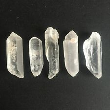 173 CT NATURAL ROCK CRYSTAL QUARTZ ROUGH POINTS RAW COLORLESS WHITE GEMS LOOSE