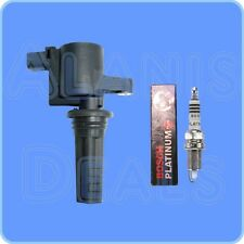 New  Bosch Spark Plug (1) + (1) ADP Ignition Coil For Lincoln LS & Jaguar S-Type