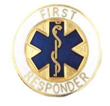 First Responder Pin Blue Star of Life Medical Emblem EMS EMT Rescue Professional