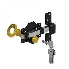 "Gatemate 2 3/4""  (70mm) Long Throw Lock Door Gate Key Lockable from Both Sides"