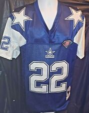 Blue Throwback Dallas Cowboys #22 Emmitt Smith men's 52 XL