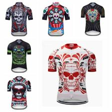 2019 Men Skull Cycling Jersey MTB Bike Short Sleeve Bicycle Clothing T-Shirt Top