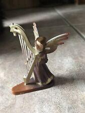 Vibtage Angel Plastic Christmas Decoration Harp Damaged