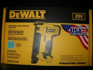 NEW IN BOX DEWALT DCN701B  20V Cordless WIRE Cable Stapler TOOL New