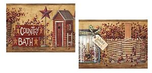💗 8x10 Laminated Art Prints Primitive Pictures Country Bathroom Rustic Outhouse