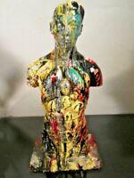 MUSK YAI ART ORIGINAL HAND PAINTED FIGURINE BUST 1 OF A KIND  2016