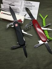 2 Swiss Army Knife WENGER SoftTouch ST10 (new in box) / VICTORINOX 91 mm (used)