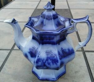 RARE Wedgwood Chapoo Flow Blue Teapot EARLY