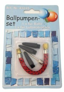 U011 Ballpumpenset 4 Teile, für 1 für Bälle + 3 für Luftmatratzen G1