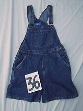 vintage womens denim jean overalls shortalls Waist 32in BE Blues S Small MINT