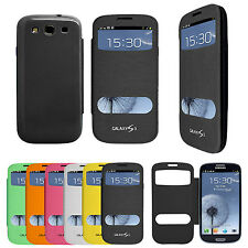 Flip Smart S VIEW Window Case Battery Cover for Galaxy S3 S4/S3 MINI Note 2 3