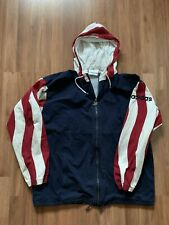 VTG Adidas USA National Team USMNT Full Zip Warm Up Track Jacket Size Medium 90s