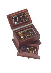 Dolls House Miniature Jewellery box-cabinet-accessories-1:12 scale