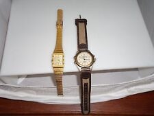 LOT OF 2 LADIES WRIST WATCH GOLD TONE PIERRE CARDIN & TIMEX EXPEDITION Pre-Owned