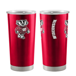NCAA Wisconsin Badgers 16oz Insulated Acrylic Square Tumbler