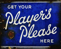 Players Please Here  - VINTAGE ADVERTISING ENAMEL METAL TIN SIGN WALL PLAQUE