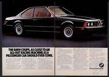 1977 BMW 630CSi 630 CSi black car photo vintage print ad