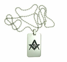 Masonic Freemasons Square and Compass Necklace Pendant