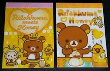 San-x Rilakkuma Honey Bumble Bee Mini Memo Pad Lot Stationery Kawaii Penpal