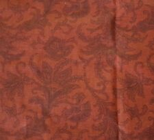 1 yd Compose Paisley Toile David Textiles Dark Rust Tone on Tone Blender