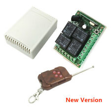 12V 4CH Channel Relay RF Wireless Remote Control Switch Receiver Module 433MHz
