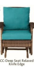New listing Improvements Catalog Outdoor Furniture 2Pc Deep Seat Chair Cushions Bahama Blue