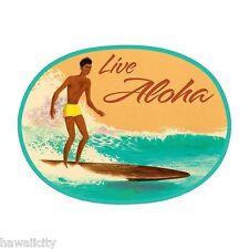 Live Aloha Vintage Surf Sticker Decal from Hawaii