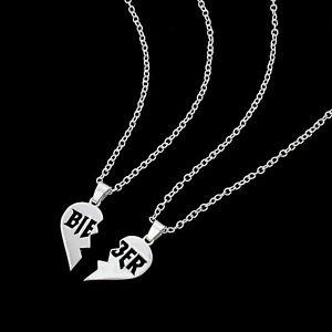 Justin Bieber Split Heart Necklace Set