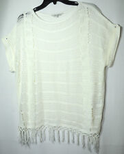 IVORY LADIES CASUAL PARTY TOP TUNIC PEACOCKS SIZE M