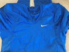 Nike Stock Defender Football Practice Game Jersey Nwt Men L Blue $55 535703 New