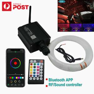300Pc RGBW Twinkle Fiber Optic Light Bluetooth APP Control Car Star Ceiling Lamp