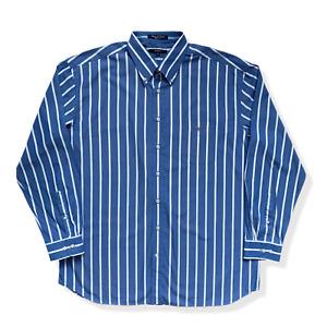 "Mens GANT Shirt | 2XL XXL | Blue & White Striped Long Sleeve Casual 52"" Chest"