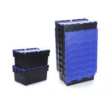 6 x 20 Ltr Heavy Duty plastique empilable EURO conteneurs de stockage Boîtes caisses Gris