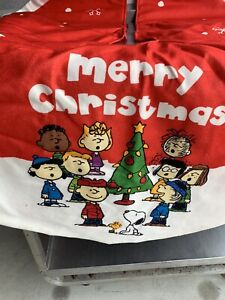 Peanuts Snoopy Charlie Brown Christmas Tree Skirt Red ~ 48 Inches NEW 2017