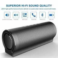 20W 14800mWh Alloy Portable Wireless Bluetooth Stereo Speaker Power BASS TF Mic
