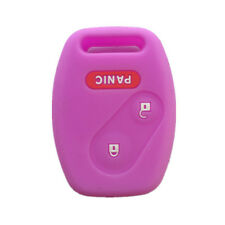 Purple Silicone Keyless Remote Key Fob Case Skin Cover for Honda 2+1 Buttons