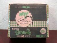 1958 DEALER DISPLAY EMPTY BOX GREENIE STIK-M-CAPS for MATTEL SHOOTIN' SHELL GUNS