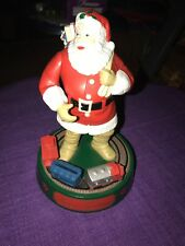 1993 Vintage Coca Cola Santa Clause Mechanical Bank With Train 1st Series