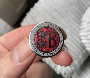 Vintage Wilmot Breeden Apprentice Association Lapel Badge Motor Car Parts Wheels