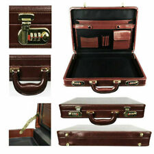 Genuine PU leather Briefcase Combination Lock for office & meeting Bespoke item