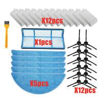 12pcs Hepa Filter mit 5pcs Mopp Tuch , 12 x Seitenbürsten für ILIFE V3 /