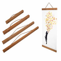 Magnetic Wooden Photo Picture Frame DIY Poster Scroll Print Artwork Wall Hanger