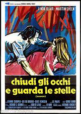 CHIUDI GLI OCCHI E GUARDA LE STELLE XANADU MANIFESTO CINEMA 1975 MOVIE POSTER 4F