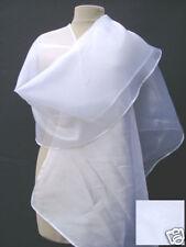 ETOLE écharpe châle stola shawl scarf MARIAGE MARIEE ORGANZA  coloris blanc