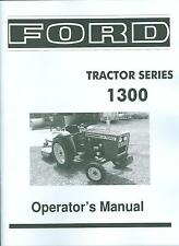 FORD TRACTOR OWNER'S MANUAL- SERIES 1300-DIESEL