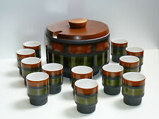 60s 70s stupendo Punch Set f.12 persone in ceramica stunning Punch Bowl Set 70s