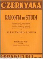 Czerny: Czernyana, Sammlung Von Studien Heft VIII ( Longo ) - Curci